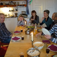 Christmas dinner at home